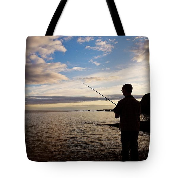 Sea Angling At Stage Cove Tote Bag