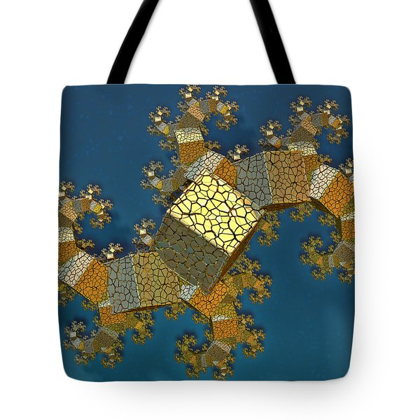 Tote Bag featuring the digital art Sea Dragon Fractal by Manny Lorenzo