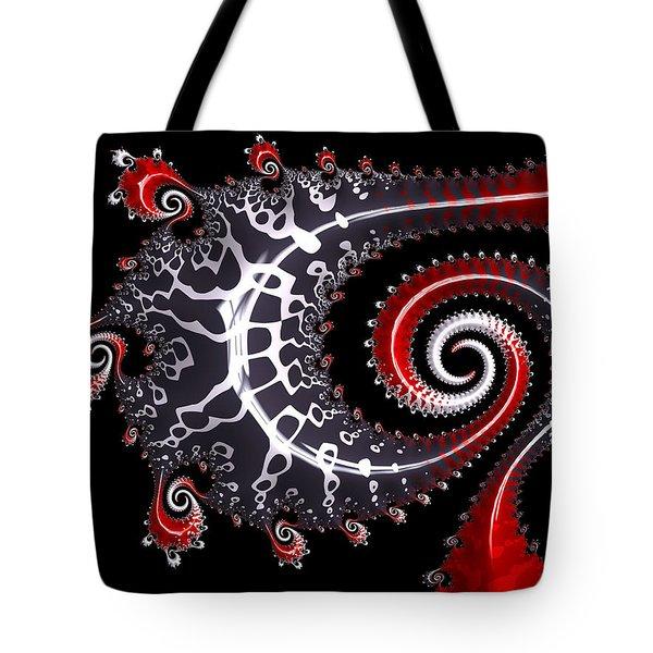 Tote Bag featuring the digital art Sea Dragon by Susan Maxwell Schmidt