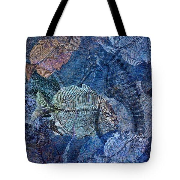 Sea Fossil World Tote Bag