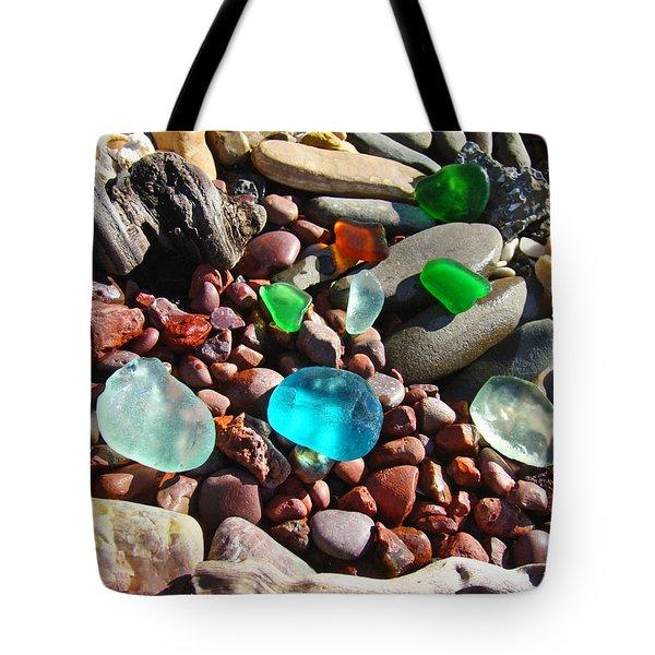 Sea Glass Art Prints Beach Seaglass Tote Bag by Baslee Troutman