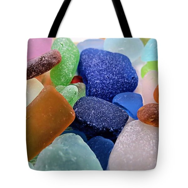 Sea Glass Of Many Colors Tote Bag