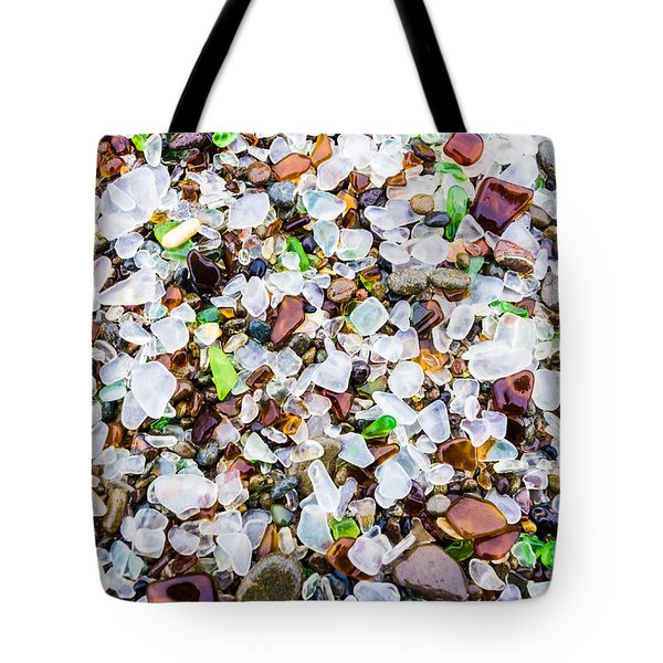 Sea Glass Treasures At Glass Beach Tote Bag
