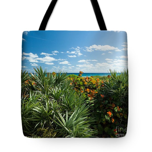 Sea Grapes And Saw Palmetto Tote Bag