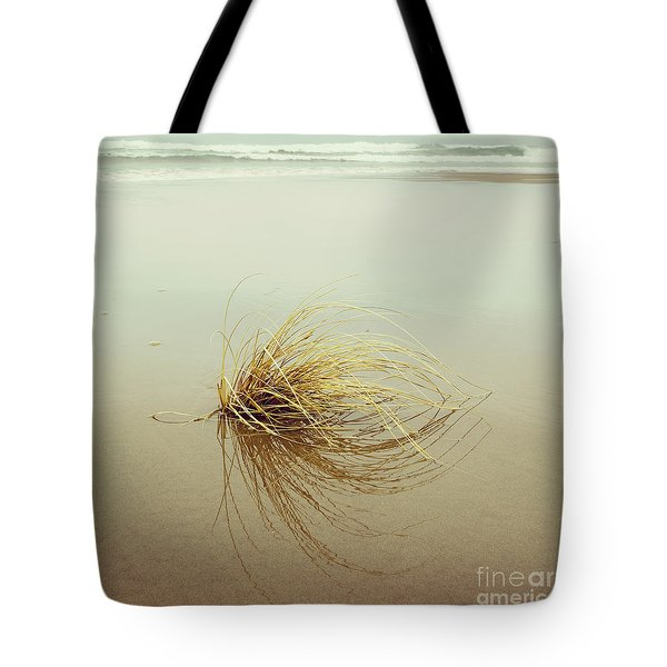 Tote Bag featuring the photograph Sea Grass - Hipster Photo Square by Charmian Vistaunet