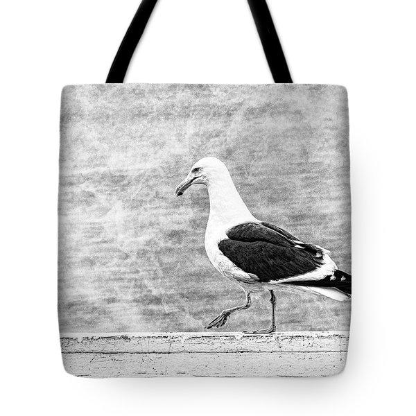 Sea Gull On Wharf Patrol Tote Bag