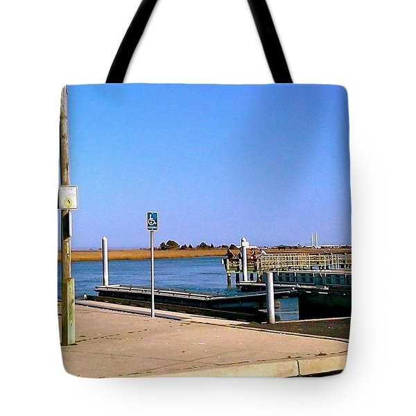Sea Gulls Watching Over The Wetlands Tote Bag by Amazing Photographs AKA Christian Wilson