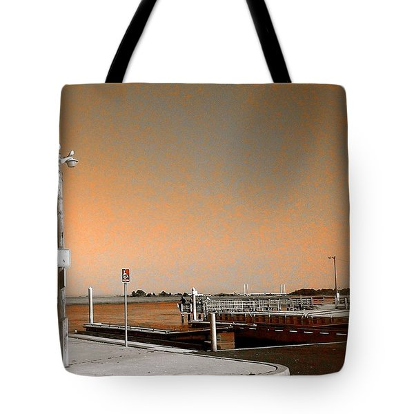 Sea Gulls Watching Over The Wetlands In Orange Tote Bag by Amazing Photographs AKA Christian Wilson