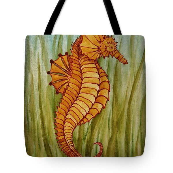 Tote Bag featuring the painting Sea Horse by Katherine Young-Beck