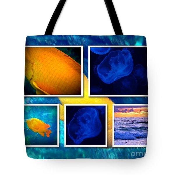Sea Jelly Fish Tote Bag by Susan Garren