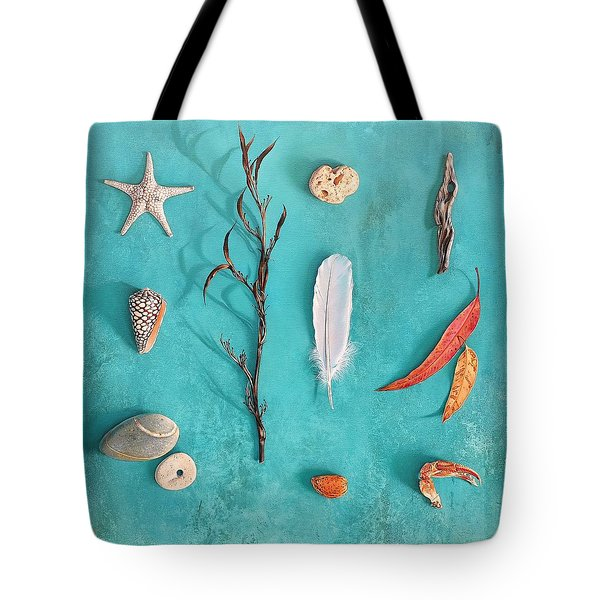 Sea, Land And Sky Tote Bag by Elena Kolotusha