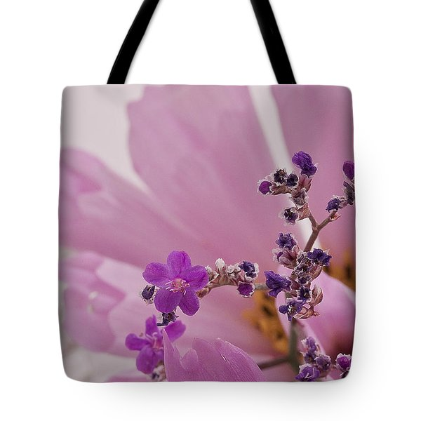 Tote Bag featuring the photograph Sea Lavender Macro  by Sandra Foster
