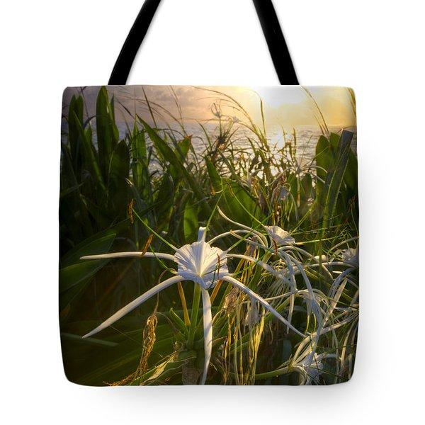 Sea Lily Tote Bag by Debra and Dave Vanderlaan