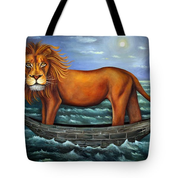 Sea Lion Bolder Image Tote Bag by Leah Saulnier The Painting Maniac