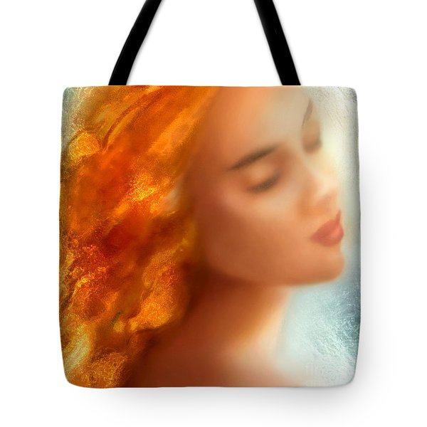 Tote Bag featuring the painting Sea Nymph Dream by Michael Rock