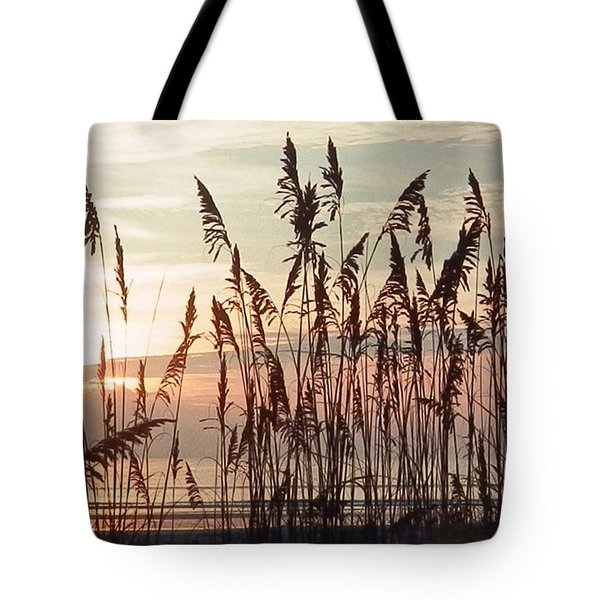 Tote Bag featuring the photograph Spectacular Sea Oats At Sunrise by Belinda Lee