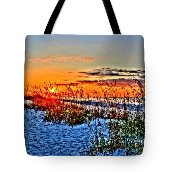 Sea Oats At Sunrise Tote Bag