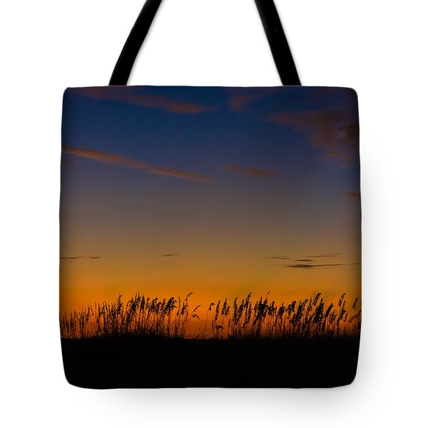 Sea Oats At Twilight Tote Bag