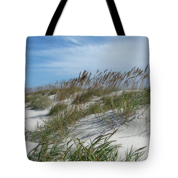 Tote Bag featuring the photograph Sea Oats by Ellen Tully
