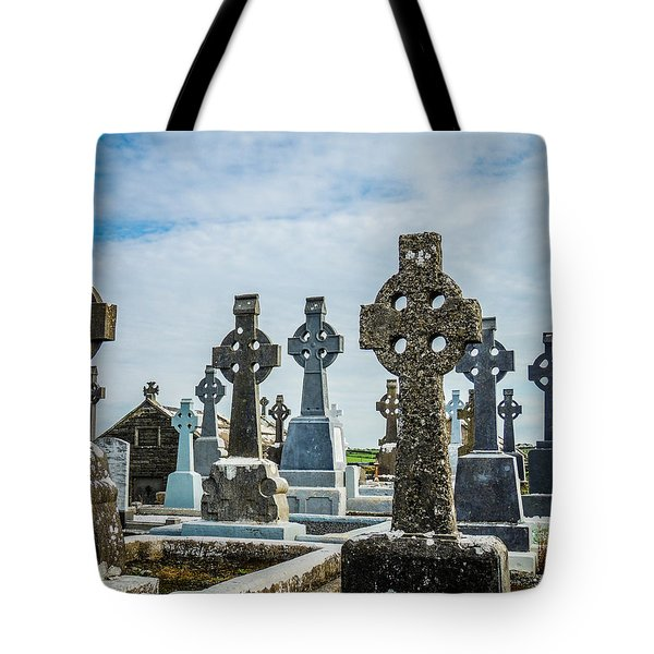 Sea  Of Celtic Crosses Tote Bag