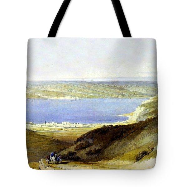 Sea Of Galilee Tote Bag by Munir Alawi