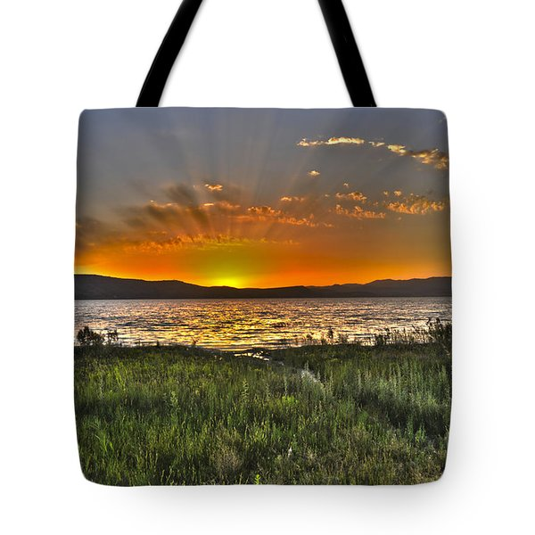 Sea Of Galilee Sunset Tote Bag