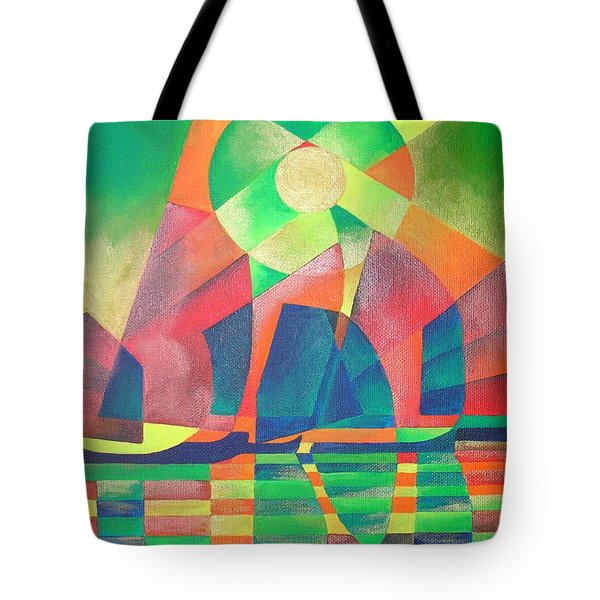 Tote Bag featuring the painting Sea Of Green by Tracey Harrington-Simpson