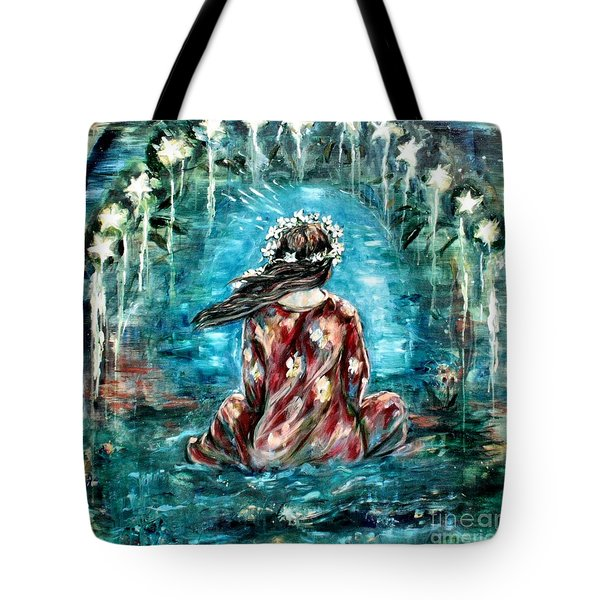 Sea Of Love Tote Bag by Carrie Joy Byrnes