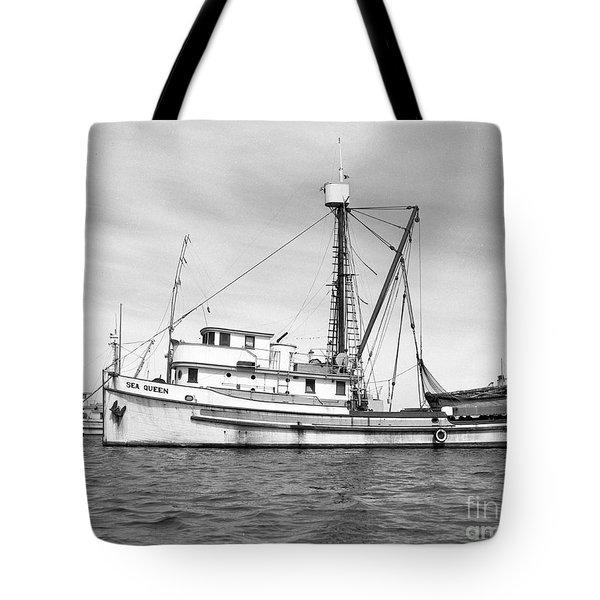 Purse Seiner Sea Queen Monterey Harbor California Fishing Boat Purse Seiner Tote Bag