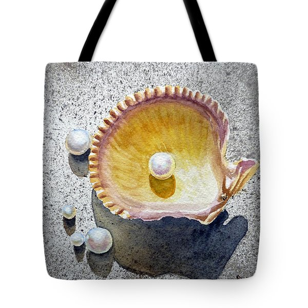 Sea Shell And Pearls Tote Bag by Irina Sztukowski