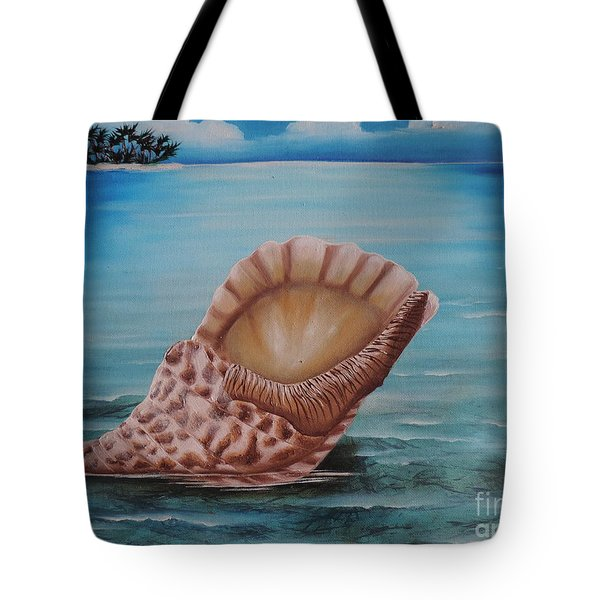 Tote Bag featuring the painting Sea Shell by Dianna Lewis