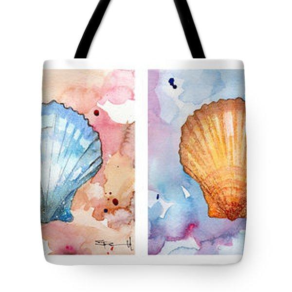 Sea Shells In Contrast Tote Bag