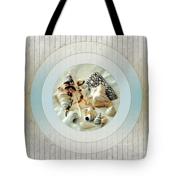 Sea Shells- Porthole No1 Tote Bag by Darla Wood