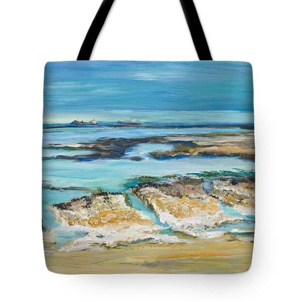 Sea Sky And Beach Tote Bag