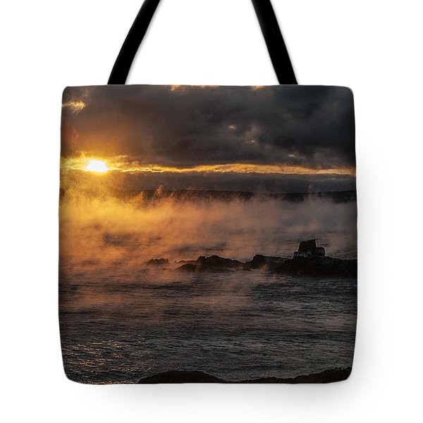 Sea Smoke Sunrise Tote Bag
