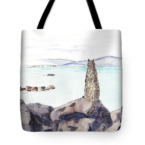 Sea Squirrel Tote Bag
