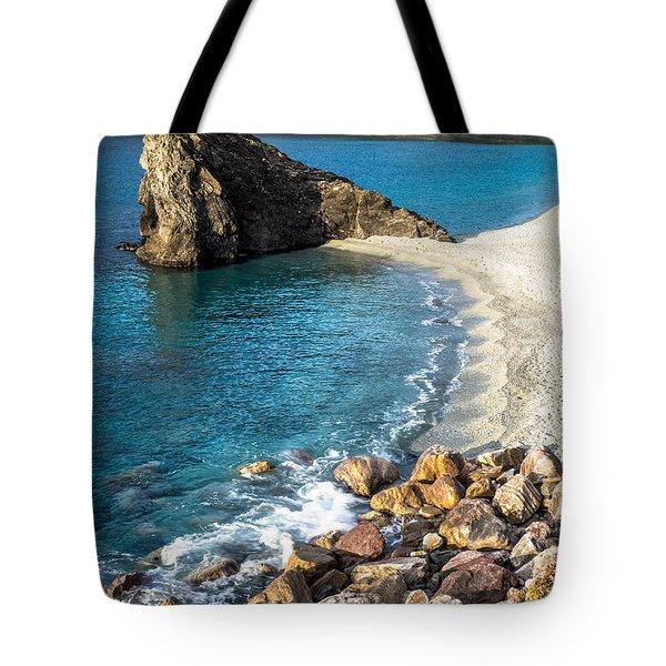 Sea Stack Of Monterosso Tote Bag