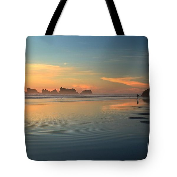 Sea Stack Photographer Tote Bag by Adam Jewell