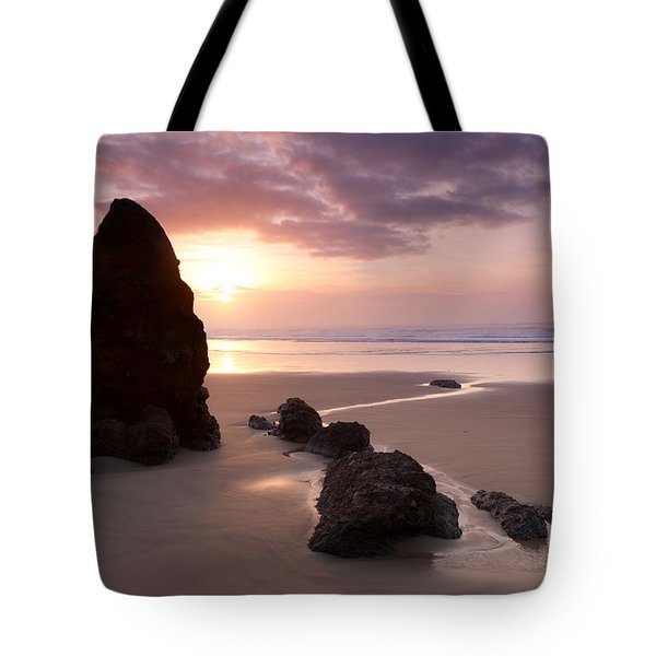 Sea Stack Sunset Tote Bag