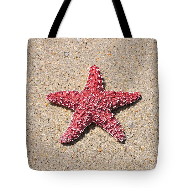 Sea Star - Red Tote Bag by Al Powell Photography USA