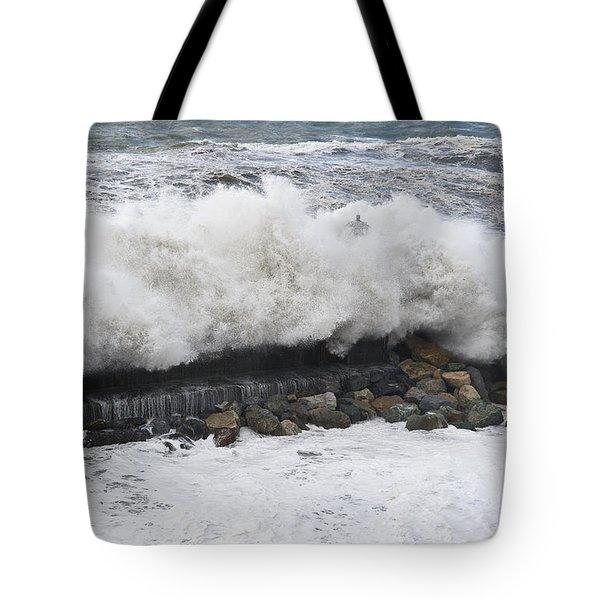 Sea Storm  Tote Bag by Antonio Scarpi