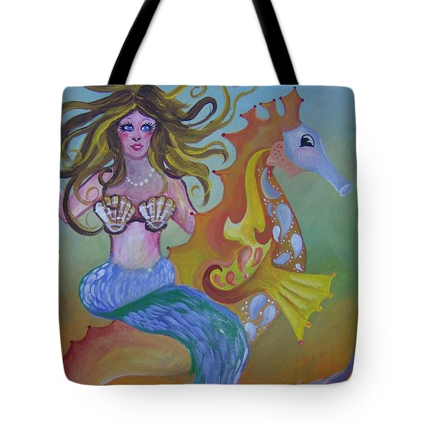 Sea Taxi Tote Bag by Leslie Manley