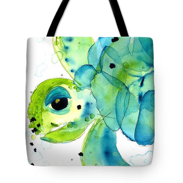Sea Turtle Tote Bag by Dawn Derman