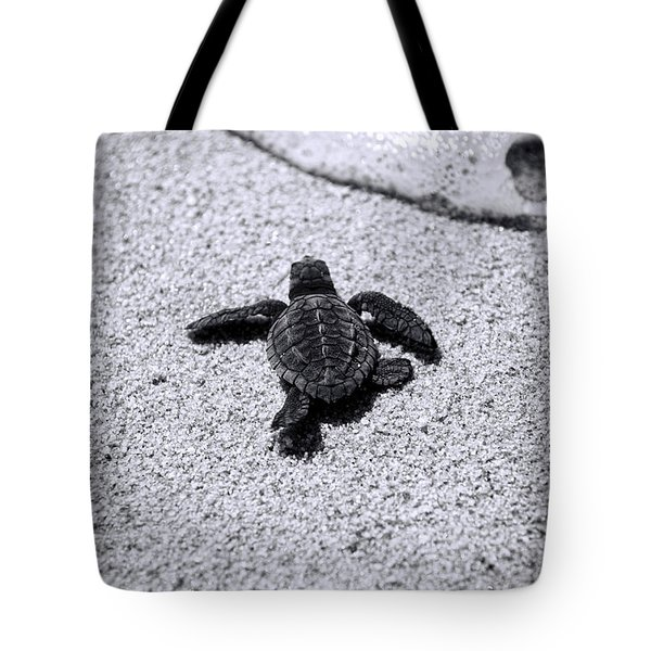Tote Bag featuring the photograph Sea Turtle by Sebastian Musial