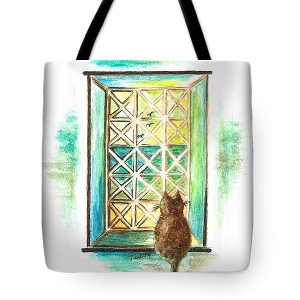 Curiosity - Cat Tote Bag