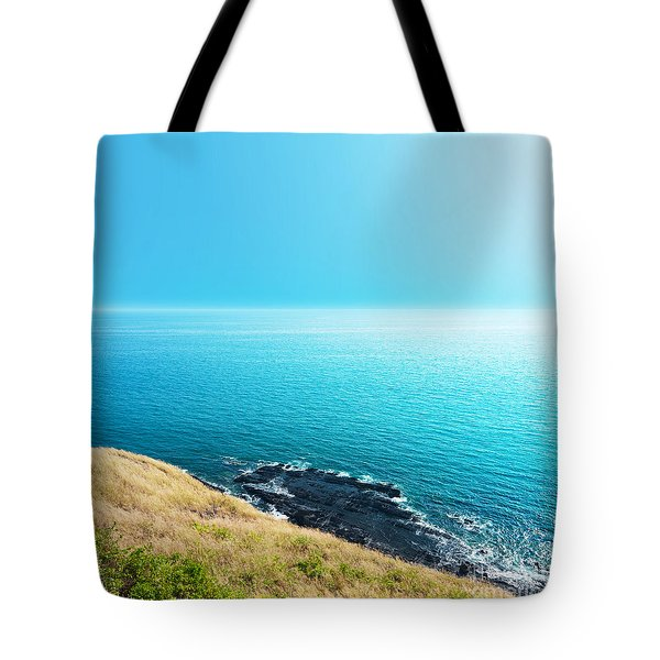 Sea Views From Cliffs Tote Bag by Atiketta Sangasaeng