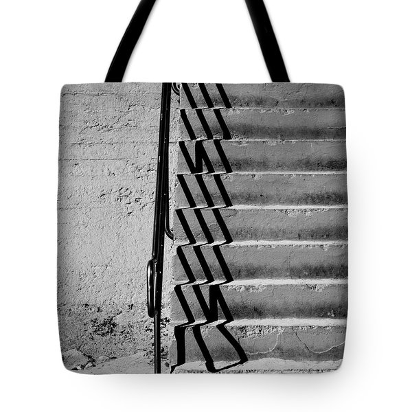Sea Wall Steps Tote Bag by Perry Webster
