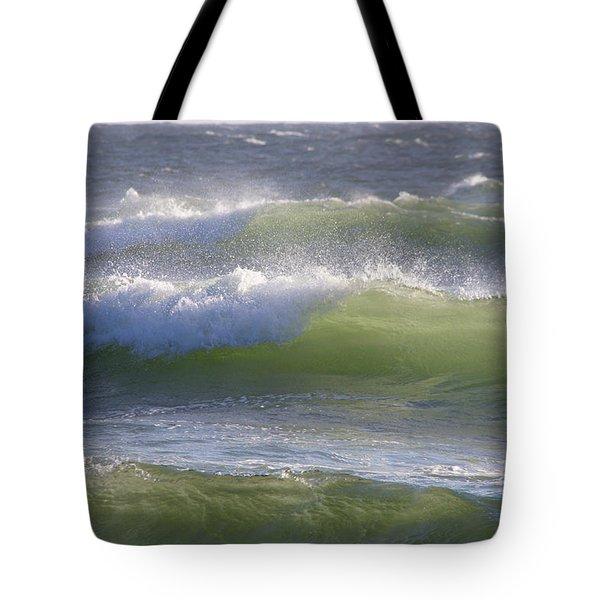 Sea Waves Tote Bag by Adria Trail