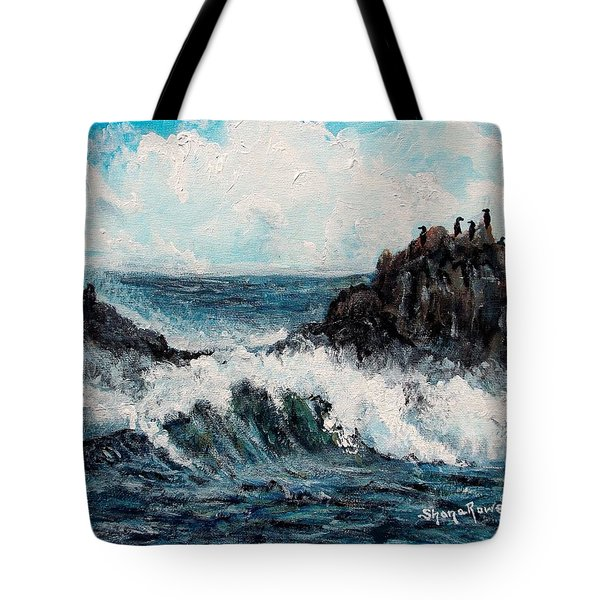 Tote Bag featuring the painting Sea Whisper by Shana Rowe Jackson