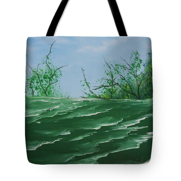 Seafoam Surf Tote Bag